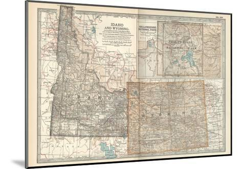 Map of Idaho and Wyoming. United States. Inset Map of Yellowstone National Park-Encyclopaedia Britannica-Mounted Giclee Print
