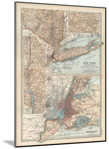 Plate 69. Map of New York State-Encyclopaedia Britannica-Mounted Giclee Print