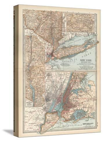 Plate 69. Map of New York State-Encyclopaedia Britannica-Stretched Canvas Print
