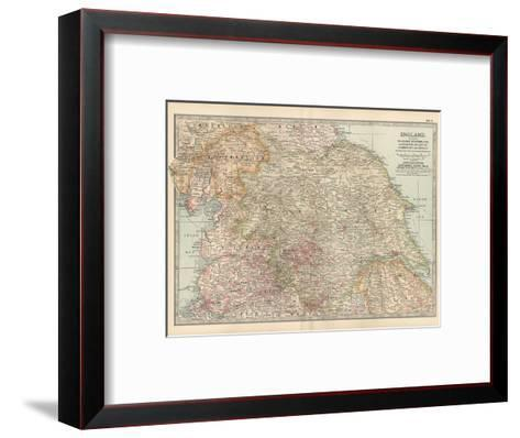 Plate 7. Map of England. Section II. Yorkshire-Encyclopaedia Britannica-Framed Art Print