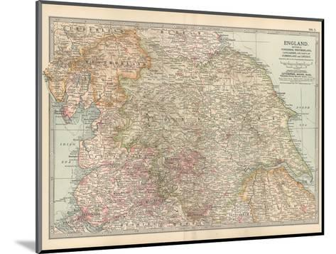Plate 7. Map of England. Section II. Yorkshire-Encyclopaedia Britannica-Mounted Giclee Print