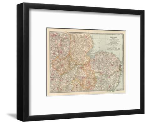 Plate 8. Map of England-Encyclopaedia Britannica-Framed Art Print