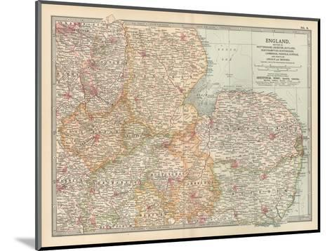 Plate 8. Map of England-Encyclopaedia Britannica-Mounted Giclee Print