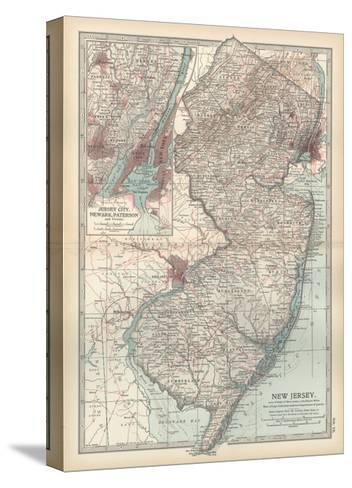 Plate 72. Map of New Jersey. United States. Inset Map of Jersey City-Encyclopaedia Britannica-Stretched Canvas Print