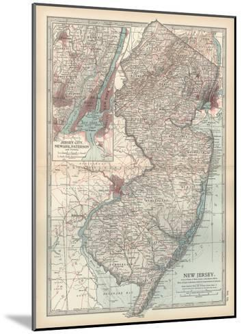 Plate 72. Map of New Jersey. United States. Inset Map of Jersey City-Encyclopaedia Britannica-Mounted Giclee Print