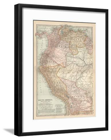 Plate 122. Map of South America-Encyclopaedia Britannica-Framed Art Print