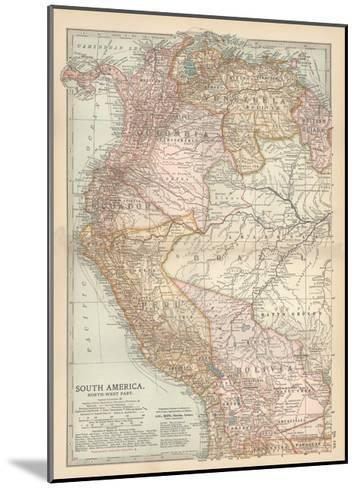 Plate 122. Map of South America-Encyclopaedia Britannica-Mounted Giclee Print