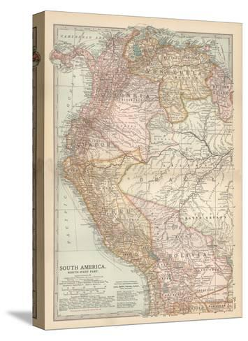 Plate 122. Map of South America-Encyclopaedia Britannica-Stretched Canvas Print