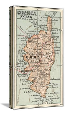 Plate 18. Inset Map of Corsica (Corse). Europe-Encyclopaedia Britannica-Stretched Canvas Print