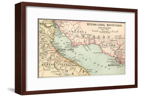 Plate 124. Inset Map of Buenos Aires-Encyclopaedia Britannica-Framed Art Print