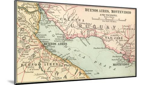 Plate 124. Inset Map of Buenos Aires-Encyclopaedia Britannica-Mounted Giclee Print