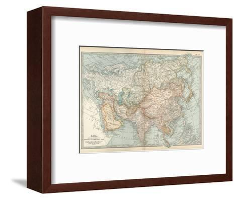 Map of Asia, with Special Reference to Siberia and Central Asia-Encyclopaedia Britannica-Framed Art Print