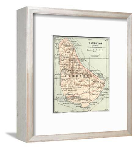 Plate 118. Inset Map of Barbados (British)-Encyclopaedia Britannica-Framed Art Print