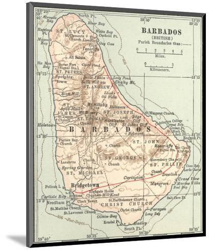 Plate 118. Inset Map of Barbados (British)-Encyclopaedia Britannica-Mounted Giclee Print