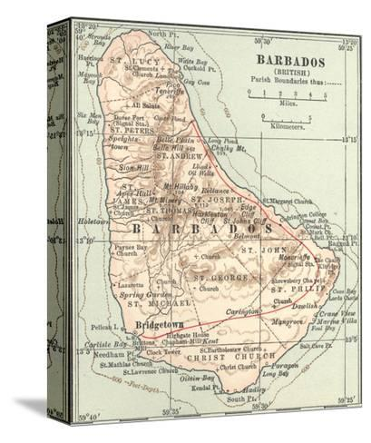 Plate 118. Inset Map of Barbados (British)-Encyclopaedia Britannica-Stretched Canvas Print