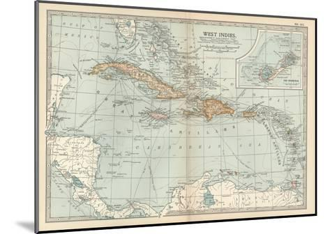 Plate 117. Map of the West Indies. Inset Map of the Berudas-Encyclopaedia Britannica-Mounted Giclee Print