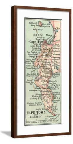 Inset Map of Cape Town and Vicinity. South Africa-Encyclopaedia Britannica-Framed Art Print