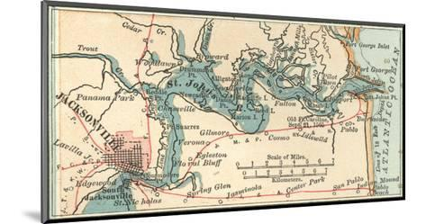 Inset Map of Jacksonville, Florida-Encyclopaedia Britannica-Mounted Giclee Print