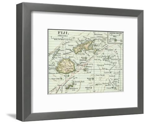 Inset Map of Fiji Islands (British). South Pacific. Oceania-Encyclopaedia Britannica-Framed Art Print