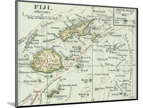 Inset Map of Fiji Islands (British). South Pacific. Oceania-Encyclopaedia Britannica-Mounted Giclee Print