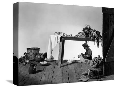 House & Garden - January 1948-Horst P. Horst-Stretched Canvas Print