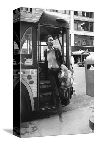 Vogue - June 1972 - Getting Off the Bus-Berry Berenson-Stretched Canvas Print