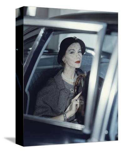Vogue - March 1957-Clifford Coffin-Stretched Canvas Print