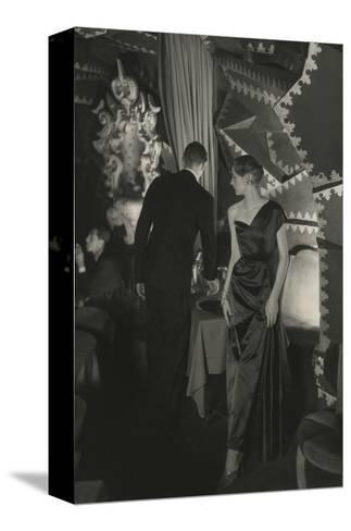 Vogue - October 1949-Donald Honeyman-Stretched Canvas Print