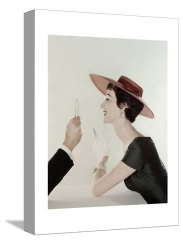 Vogue - April 1954-John Rawlings-Stretched Canvas Print