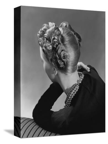 Vogue - November 1938-John Rawlings-Stretched Canvas Print