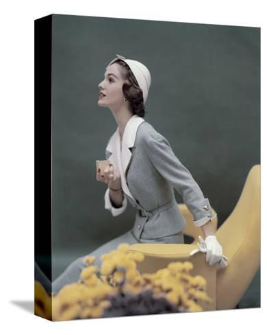 Vogue - March 1957-Karen Radkai-Stretched Canvas Print