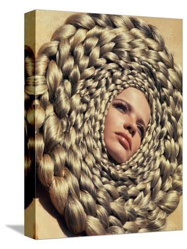 Vogue - April 1967-Franco Rubartelli-Stretched Canvas Print