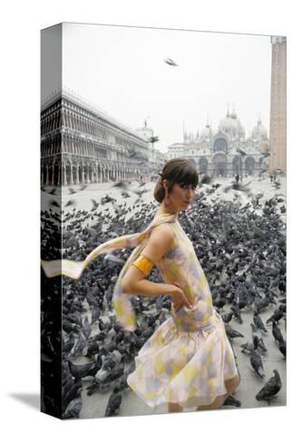 Mademoiselle - February 1966-George Barkentin-Stretched Canvas Print