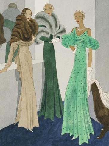 Vogue - November 1932-Eduardo Garcia Benito-Stretched Canvas Print
