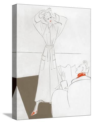 Vogue - January 1935-Eduardo Garcia Benito-Stretched Canvas Print