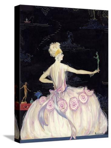 Vogue - October 1920-Robert Kalloch-Stretched Canvas Print