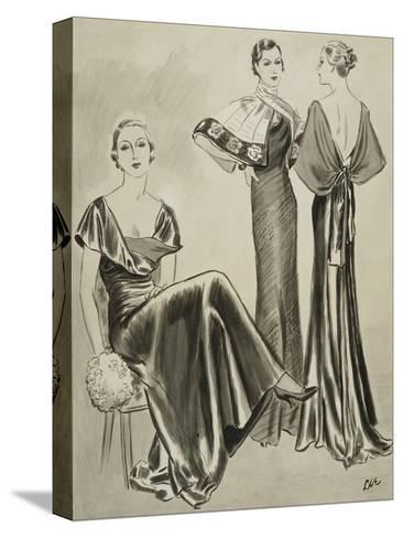 Vogue - August 1933-Creelman-Stretched Canvas Print