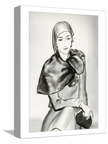 Vogue - March 1930-Ren? Bou?t-Willaumez-Stretched Canvas Print