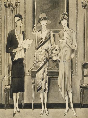 Vogue - June 1928-William Bolin-Stretched Canvas Print