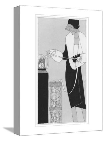 Vogue - April 1929-Jean Pag?s-Stretched Canvas Print