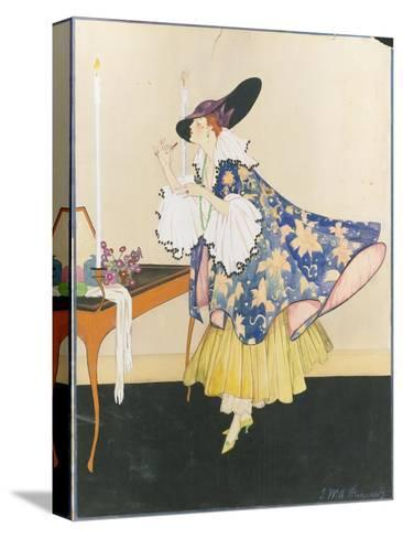 Vogue - January 1915-E.M.A. Steinmetz-Stretched Canvas Print