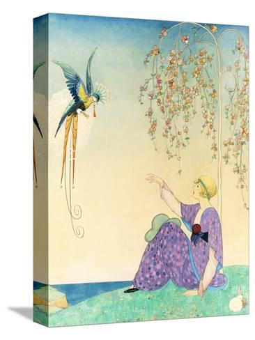 Vogue - February 1914-George Wolfe Plank-Stretched Canvas Print