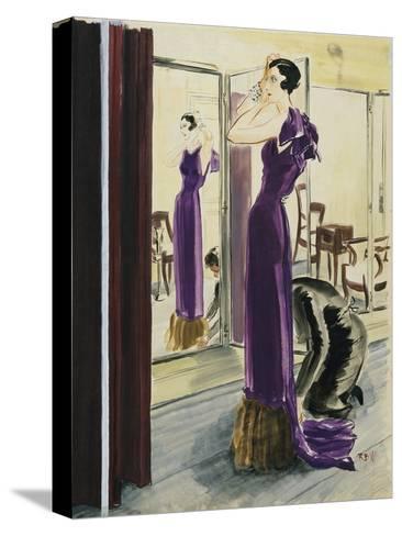 Vogue - September 1933-Ren? Bou?t-Willaumez-Stretched Canvas Print