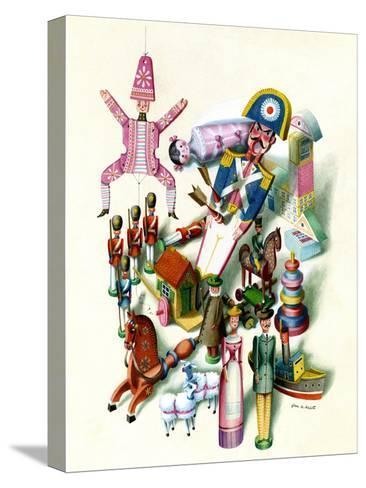 House & Garden - November 1944-Jan B. Balet-Stretched Canvas Print