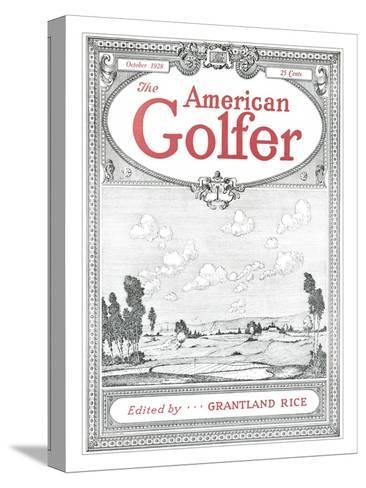 The American Golfer October 1928--Stretched Canvas Print
