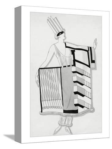 Vogue - December 1930-Robert E. Locher-Stretched Canvas Print