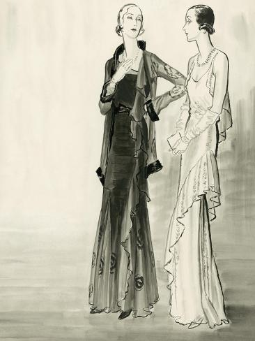 Vogue - September 1930-Ren? Bou?t-Willaumez-Stretched Canvas Print