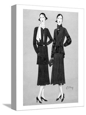 Vogue - August 1930-Douglas Pollard-Stretched Canvas Print