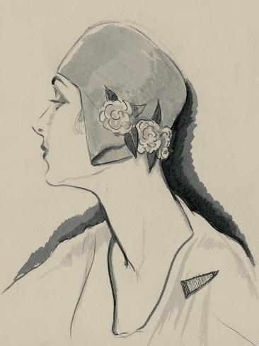 Vogue - March 1929-Porter Woodruff-Stretched Canvas Print