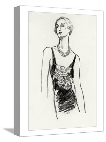Vogue - December 1934-Porter Woodruff-Stretched Canvas Print